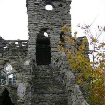 This upstate New York property featuring castle ruins comes with an eccentric history.