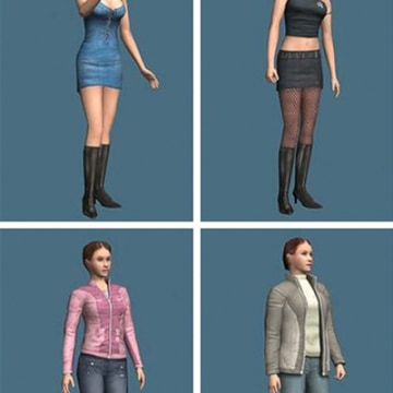Participants in the experiment conducted in Stanford's Virtual Human Interaction Lab were assigned digital avatars that were dressed suggestively or conservatively.