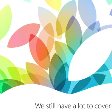 "The press invite for Apple's Oct. 22 event promised ""a lot to cover."""