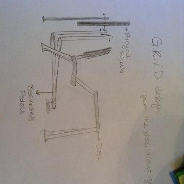 Sketch of desk system