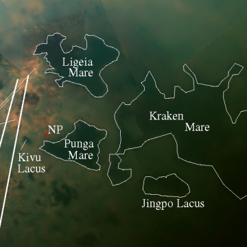 Image: Titan lake region