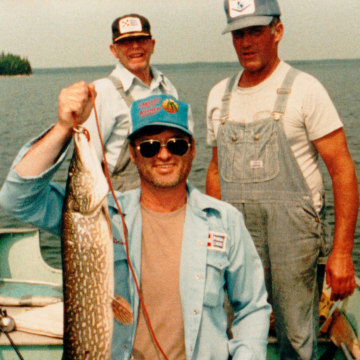 Image: Brian Curtis fishing with friends in his younger years