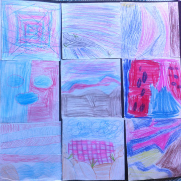 Image: Artwork created by children for Brian Curtis