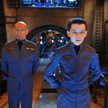 "This image released by Summit Entertainment shows Ben Kingsley, left, and Asa Butterfield in a scene from ""Ender's Game."" (AP Photo/Summit Entertainme..."