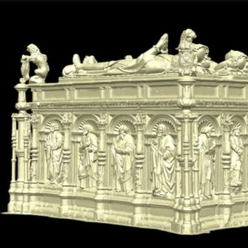 Researchers created a 3-D scan of the 16th century tomb of Thomas Howard, 3rd Duke of Norfolk.