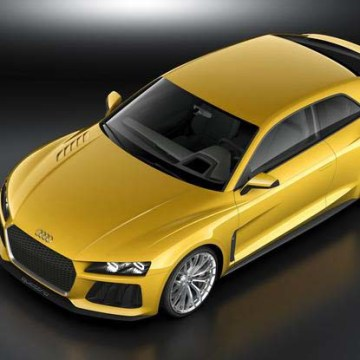 The Audi Sport Quattro Concept features a 700-hp plug-in hybrid drivetrain. European automakers are jumping into the electric car game as their other sales lag.