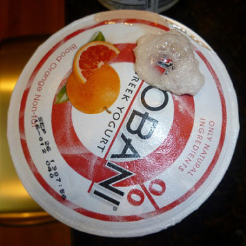 Recalled Chobani yogurt