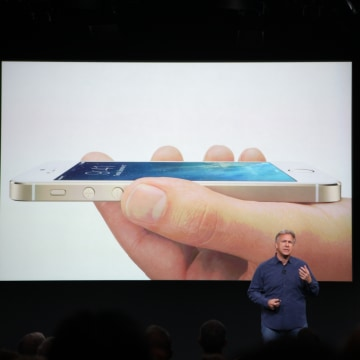 Apple's Phil Schiller introduces the iPhone 5S.