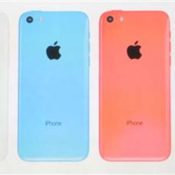 The five colors of the new iPhone 5C.