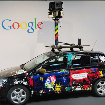 FILES - Picture taken on March 3, 2010 shows a Google street-view car with its camera, used to photograph whole streets, at the Google street-view sta...