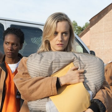 """Taylor Schilling is the star of """"Orange is the new Black."""""""