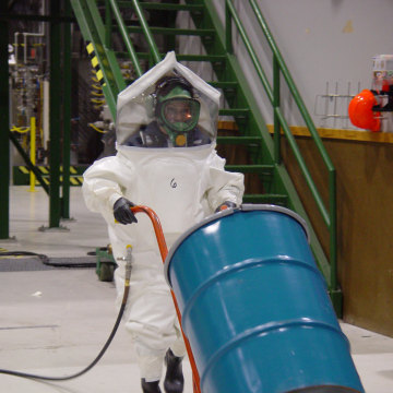 Image: Chemical weapons training