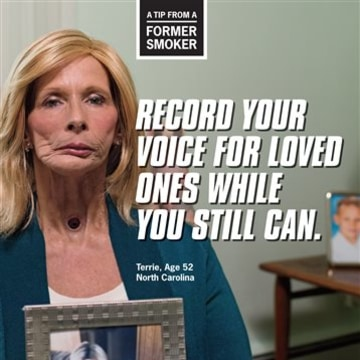 This image provided by the Centers for Disease Control and Prevention shows a poster from their anti-smoking advertising campaign, launched on Thursda...