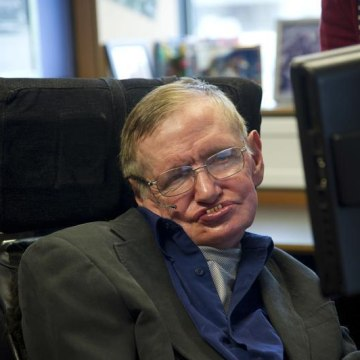 British physicist Stephen Hawking sits at his desk in the Applied Mathematics Department of Cambridge University August 30, 2012. REUTERS/Guillermo Gr...