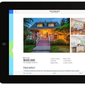Zillow for iOS 7