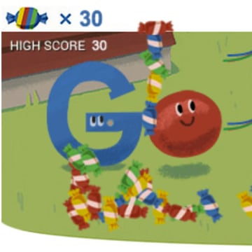 Google Doodle celebrating the search giant's 15th birthday