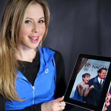 "As a part of TODAY.com's series, ""What's your workout?"" Figure Skater, Tara Lipinski demonstrates two leg exercises before the 2014 Winter Olympics in..."