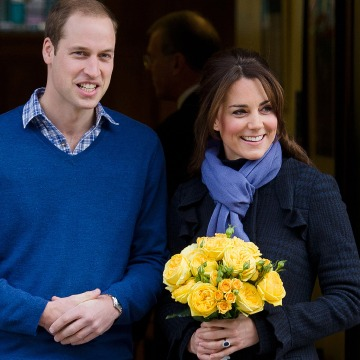 Prince WiIliam and Duchess Kate when they left the King Edward VII hospital in central London in 2012, the last time Kate was treated for hyperemesis gravidarium.