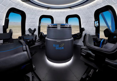Here's What Space Tourists Can Expect While On Board Blue Origin's Capsule