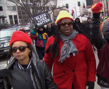 Protesters returned to the streets to demand an indictment against the officer who shot and killed Michael Brown in Ferguson, Missouri back in August.