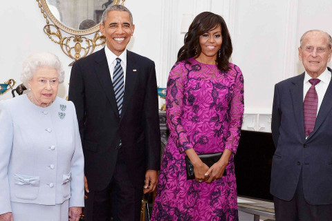 Queen Hosts President and Mrs. Obama to Lunch at Windsor