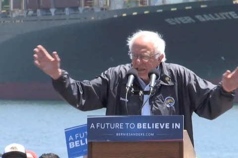 Sanders: This Campaign Is About Stopping 'Trumps of the World'