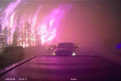 Through the Inferno: Dashcam Captures Escape From Wildfire