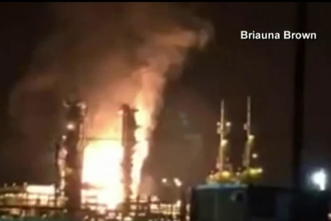 Gas Plant Explosion Caught on Video
