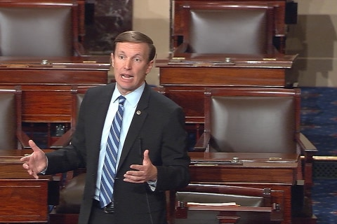 Senator Leads Filibuster-Like Debate Over Gun Control