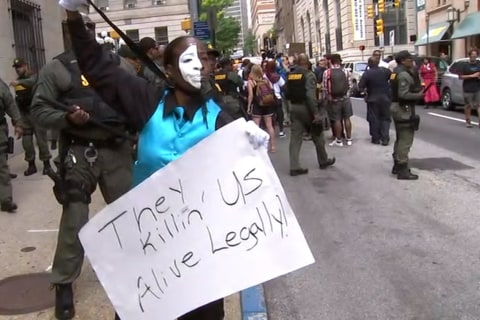 Protester Responds to Cop's Acquittal in Freddie Gray's Death