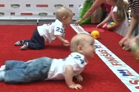 5-Yard Dash: Watch Lithuanian Baby Racing Contest