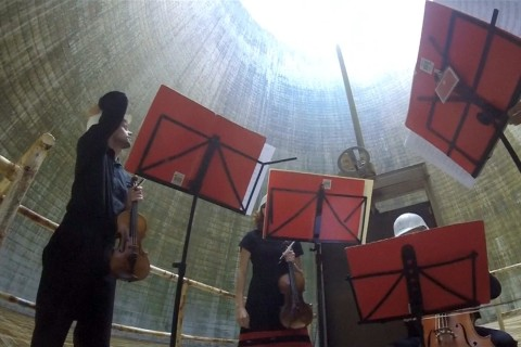 String Quartet Plays Mozart Classic in Nuclear Power Plant
