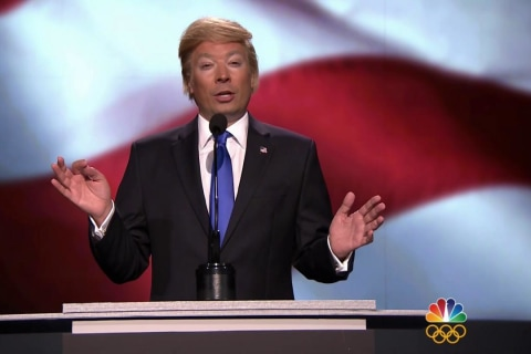 Jimmy Fallon as Donald Trump Returns to 'Tonight Show'
