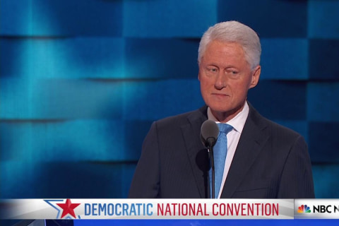 Bill Clinton Describes Hillary Clinton's Investigation of School Segregation