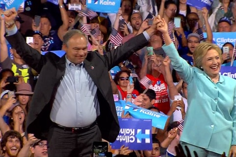 Clinton on Kaine: 'I Just Can't Think of Anybody Better'