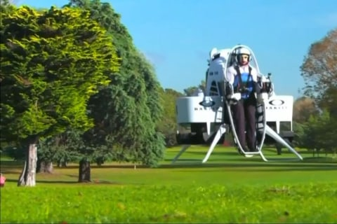 Is this Jet Pack the Future of Golf Carts?