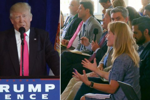 Watch Trump Call on Russia to Find Clinton's Emails, Tell Reporter to 'Be Quiet'