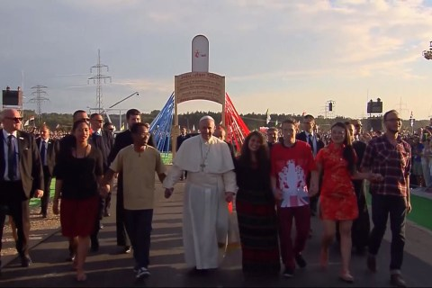 Pope Francis and Over a Million People Attend Vigil in Poland