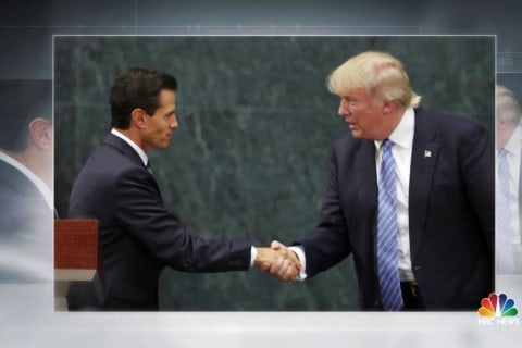 Trump Meets With Mexican President, Says Wall Payment Not Discussed