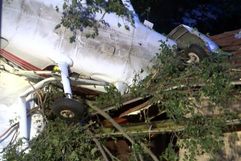 Small Plane Crashes Into Indiana House