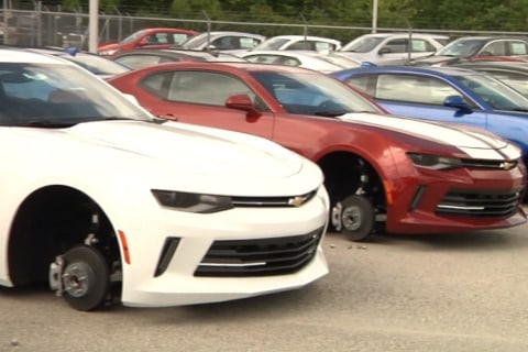 Tire Thieves Leave Chevy Dealer Flat