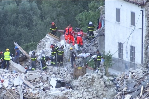 Little girl rescued from Italy earthquake rubble as death toll rises to 247