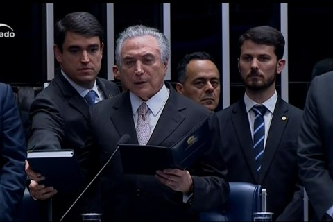 Michael Temer Sworn in as New President of Brazil