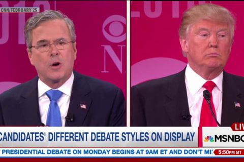 How Clinton and Trump Debated in Primaries