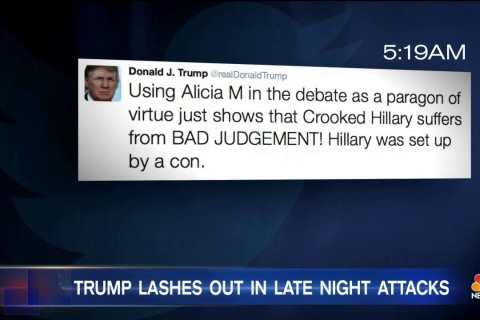 Trump Attacks Former Miss Universe as 'Disgusting' in Early Morning Tweets