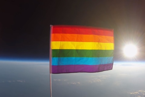 Video Shows First Pride Flag Launched into Stratosphere