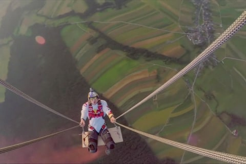 Red Bull Skydiving Team Goes For Swing Record