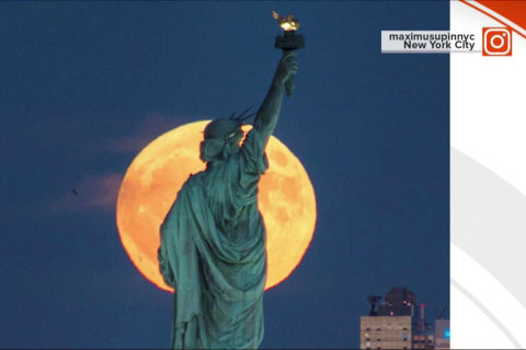 'Supermoon' Lights Up Social Media With Beautiful Pics