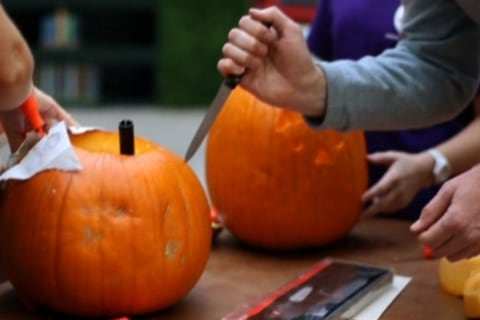 Carve The Pumpkin, Not Yourself!