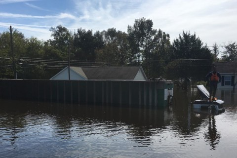 Flood-Ravaged City Surveyed by N.C. Governor